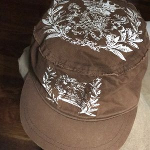 DAVID AND YOUNG BROWN WHITE CADET HAT 22b03ebd0f2b